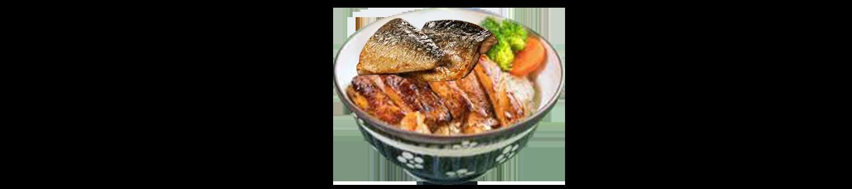 照燒鯖魚配雞扒丼(午)