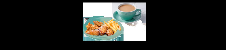 雞翼薯條(茶)